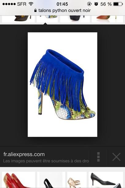 shoes blues shoes green python