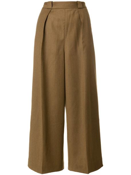 Pence cropped high women wool brown pants