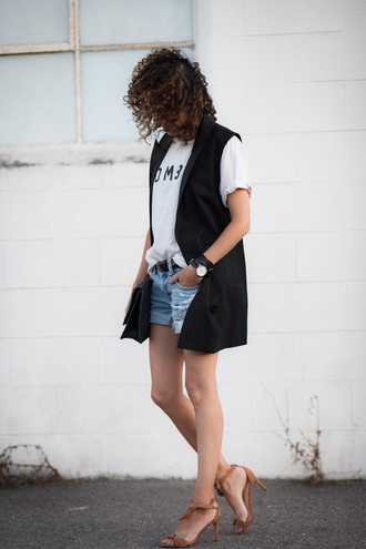 alterations needed blogger jacket t-shirt shorts shoes bag belt jewels