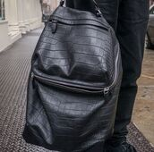 bag,black,snake skin,luxury,backpack,zip,zipper backpack,back to school,fashion