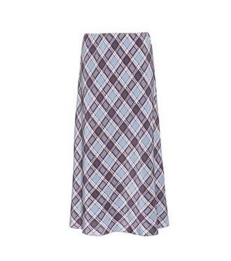 skirt silk blue