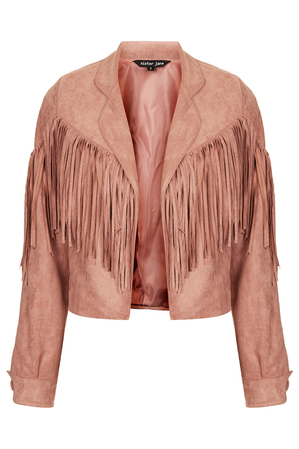 **Suede Fringe Jacket by Sister Jane
