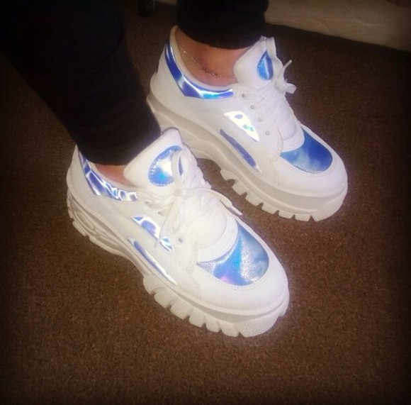 shoes trainers white trainers holographic adidas