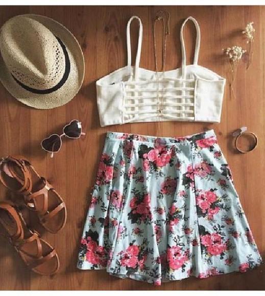 skirt cute floral skirt