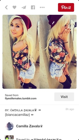 shirt top t-shirt floral shirt flowers roses outfit summer top off the shoulder off the shoulder sweater