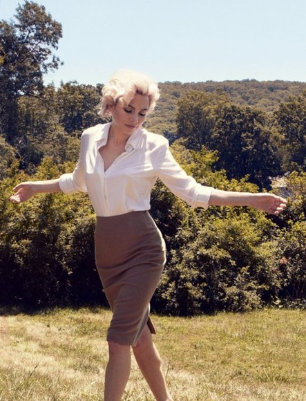 michelle williams skirt marilyn monroe
