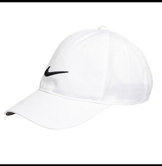 hat nike white logo