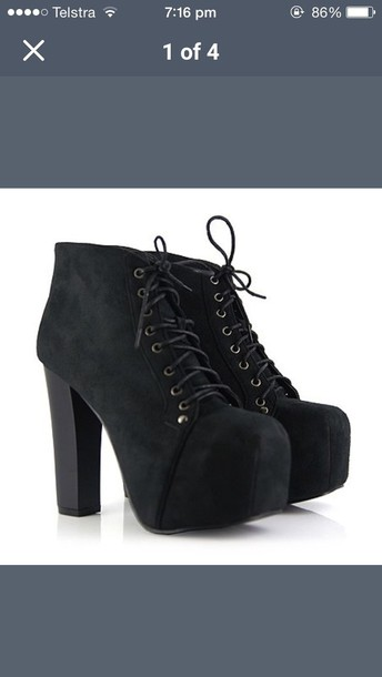 shoes platform lace up boots