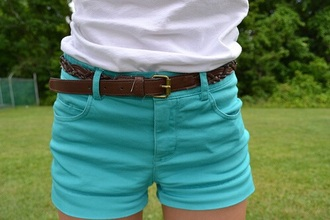 shorts mint blue dark mint blue blue blue shorts turquoise