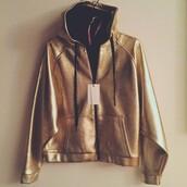 sweater,eleven paris,hoodie,gold hoodie