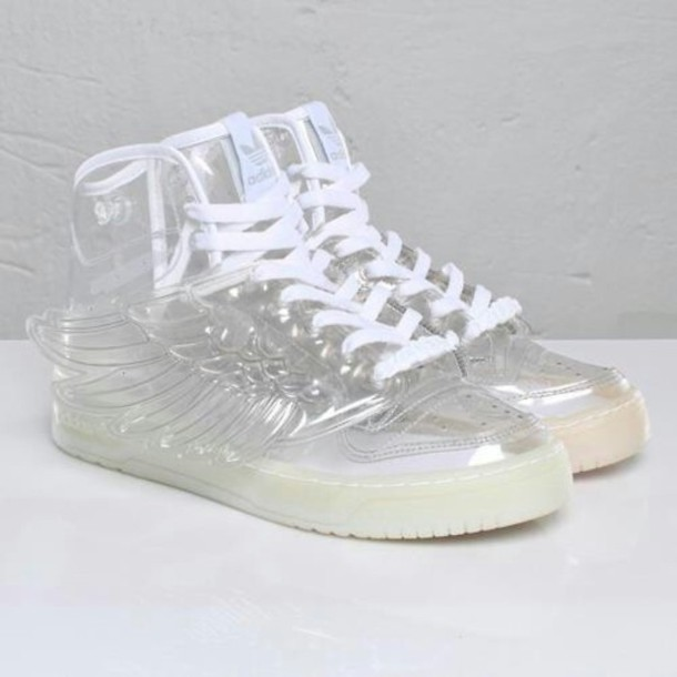 shoes plastic adidas wing shoes adidas wings white shoes adidas jeremy  scott jeremy scott adidas shoes a80a6f45999a