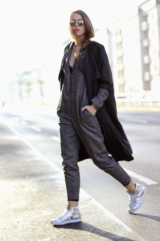 gold schnee blogger onesie high top sneakers charcoal adidas shoes round sunglasses silver shoes