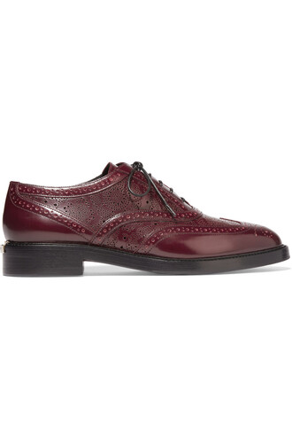 london leather burgundy shoes