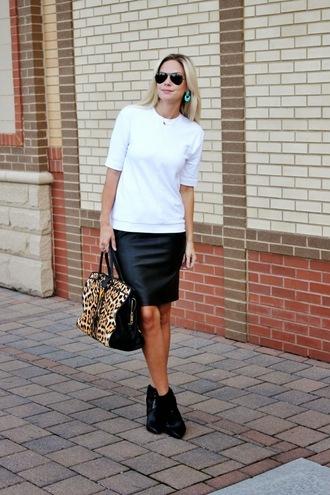 b soup blogger top jewels sunglasses bag skirt shoes