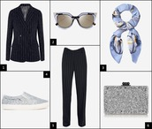 onto my wardrobe,blogger,scarf,tailoring,stripes,vans,glitter shoes,silver shoes,silver,cat eye,jacket,sunglasses,pants,bag,silk scarf