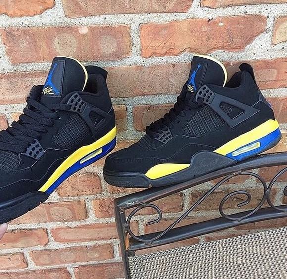 yellow blue black trainers jordans jordans dunkman shoes