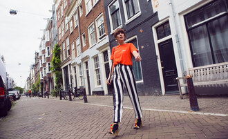 t-shirt striped pants sandals sparkle sandals blogger blogger style slogan t-shirts chunky heels