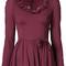 Dolce & gabbana - frill trim top - women - silk/spandex/elastane - 40, pink/purple, silk/spandex/elastane