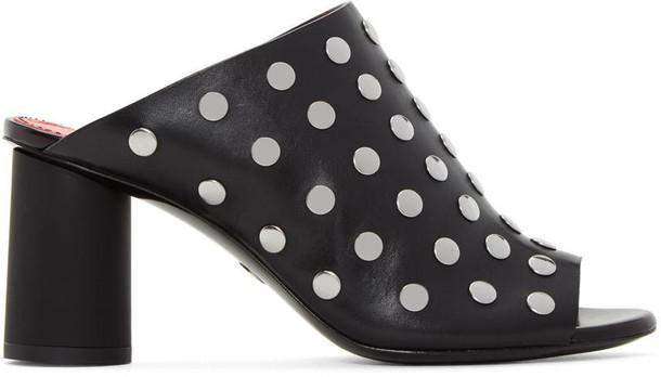 Proenza Schouler studded panda sandals black shoes