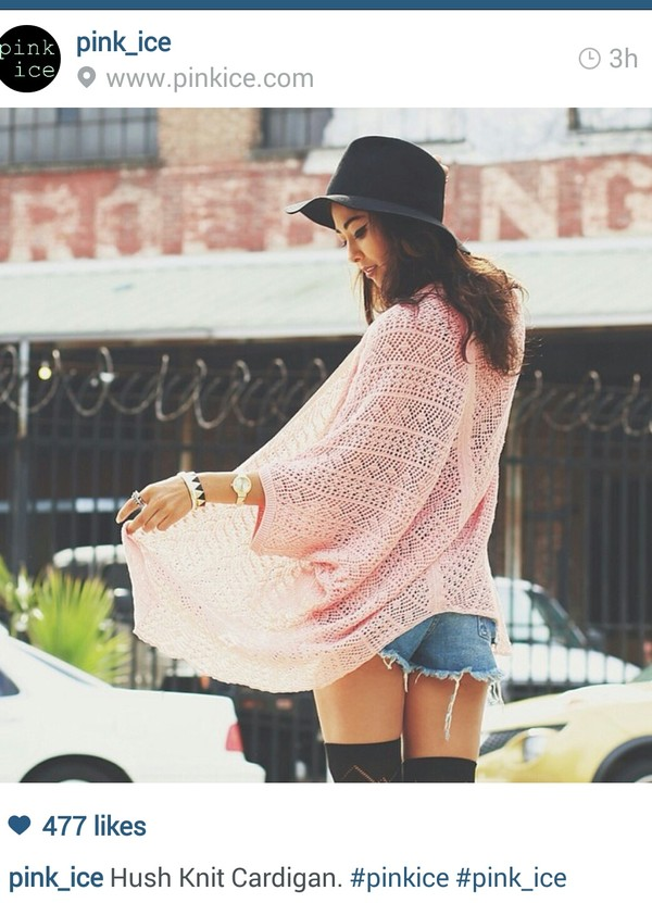 shorts cardigan knitted cardigan high waisted socks fedora floppy hat High waisted shorts coat