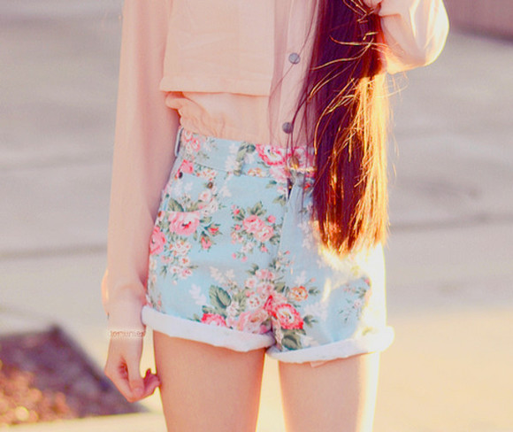 shorts flowered shorts flower shorts