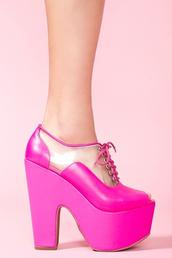shoes,hot pink,platform shoes