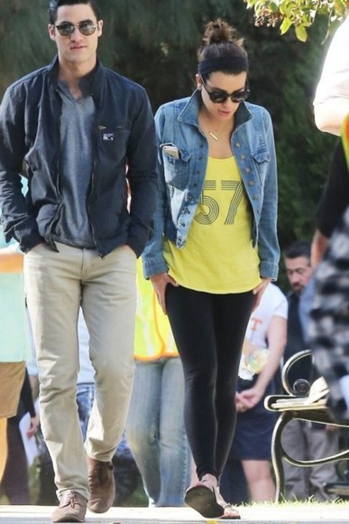jacket denim jacket denim lea michele
