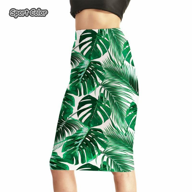 US $13.0 18% OFF|Green Leaves Women Sexy High Waist Midi Skirts Tennis Bowling Skirts Slim Elastic Popular Female Party Apparel S to 4XL-in Tennis Skirts from Sports & Entertainment on Aliexpress.com | Alibaba Group