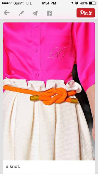 knot Belt orange nautical