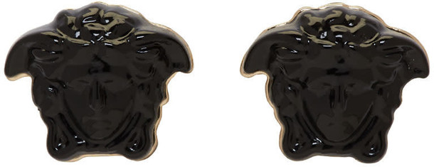 VERSACE mini earrings black jewels