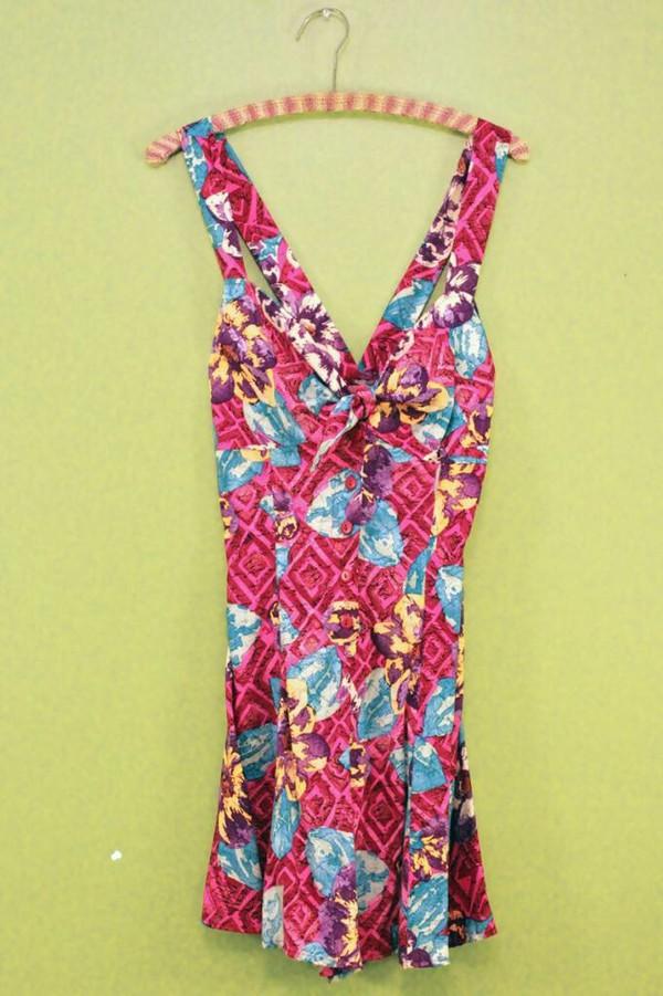 romper jeejeez.com vintage jumpsuit cotton flowers fashion print