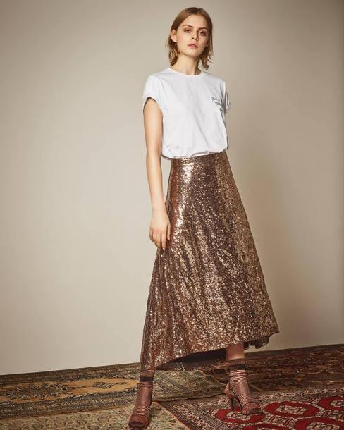 skirt gold skirt