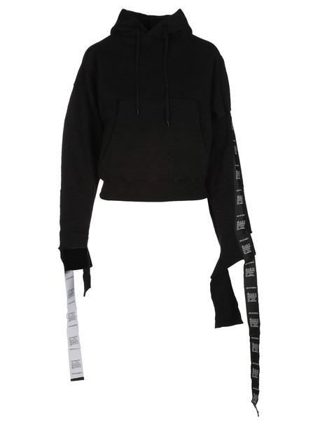 Vetements Tape Hoodie in black