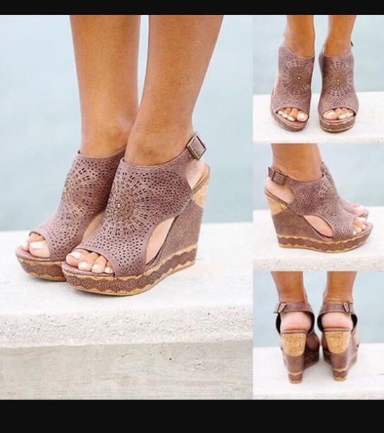 shoes wedge sandals sandals