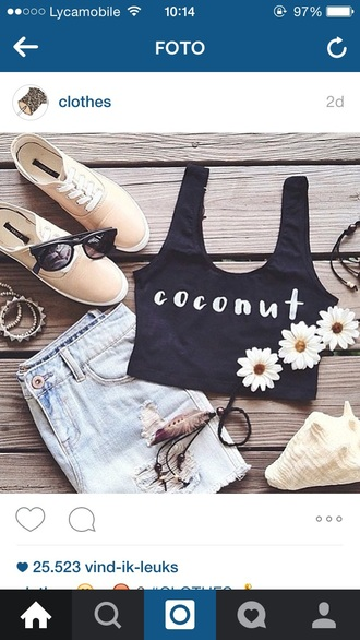 top tank top crop tops crop black crop top style fashion girly girly wishlist tumblr outfit shorts tumblr tumblr girl tumblr clothes cool streetwear streetstyle summer top summer shorts love lovely hipster shoes sunglasses boho shirt