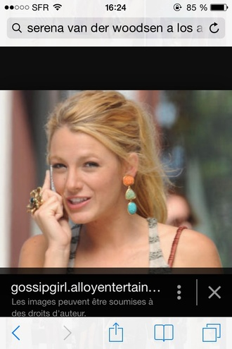 jewels blake lively serena van der woodsen big earrings