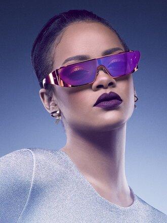 sunglasses rihanna editorial purple dior