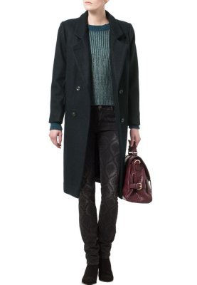 Ganni Classic coat - blue - Zalando.co.uk