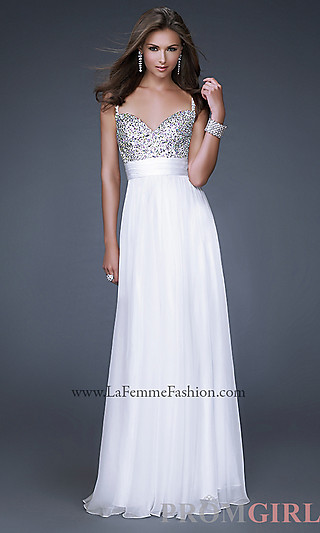 Prom Dresses, Celebrity Dresses, Sexy Evening Gowns - PromGirl: Spaghetti Strap Sweetheart La Femme Dress