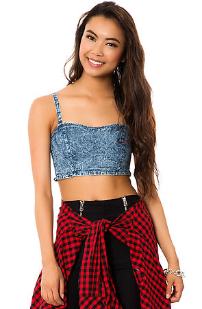 *MKL Collective Bustier The Far Out in Blue -  Karmaloop.com