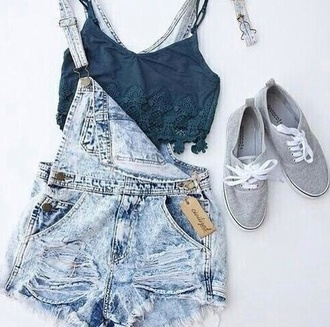 denim blue denim button comfy shorts summer boho dungarees short overalls top coat