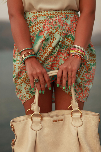 skirt clothes bag pattern floral cute waist skirt colour print arm candy mini skirt patterned skirt paisley wrap skirt shirt green skirt fashion office wear classy fashion toast fashion vibe floral skirt preppy green pink floral colorful skirt