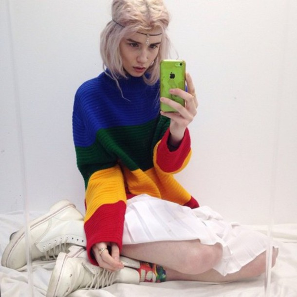 sweater grunge colorful