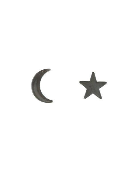 FEDERICA TOSI women moon earrings grey jewels