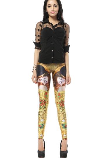 Mural Character Printing Elastic Leggings [FBBI00106]- US$ 27.99 - PersunMall.com