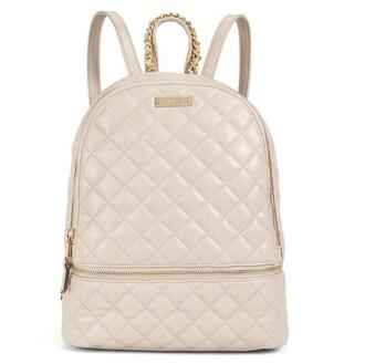 bag style leather cream tan backpack back to school school bag trendy cute girly