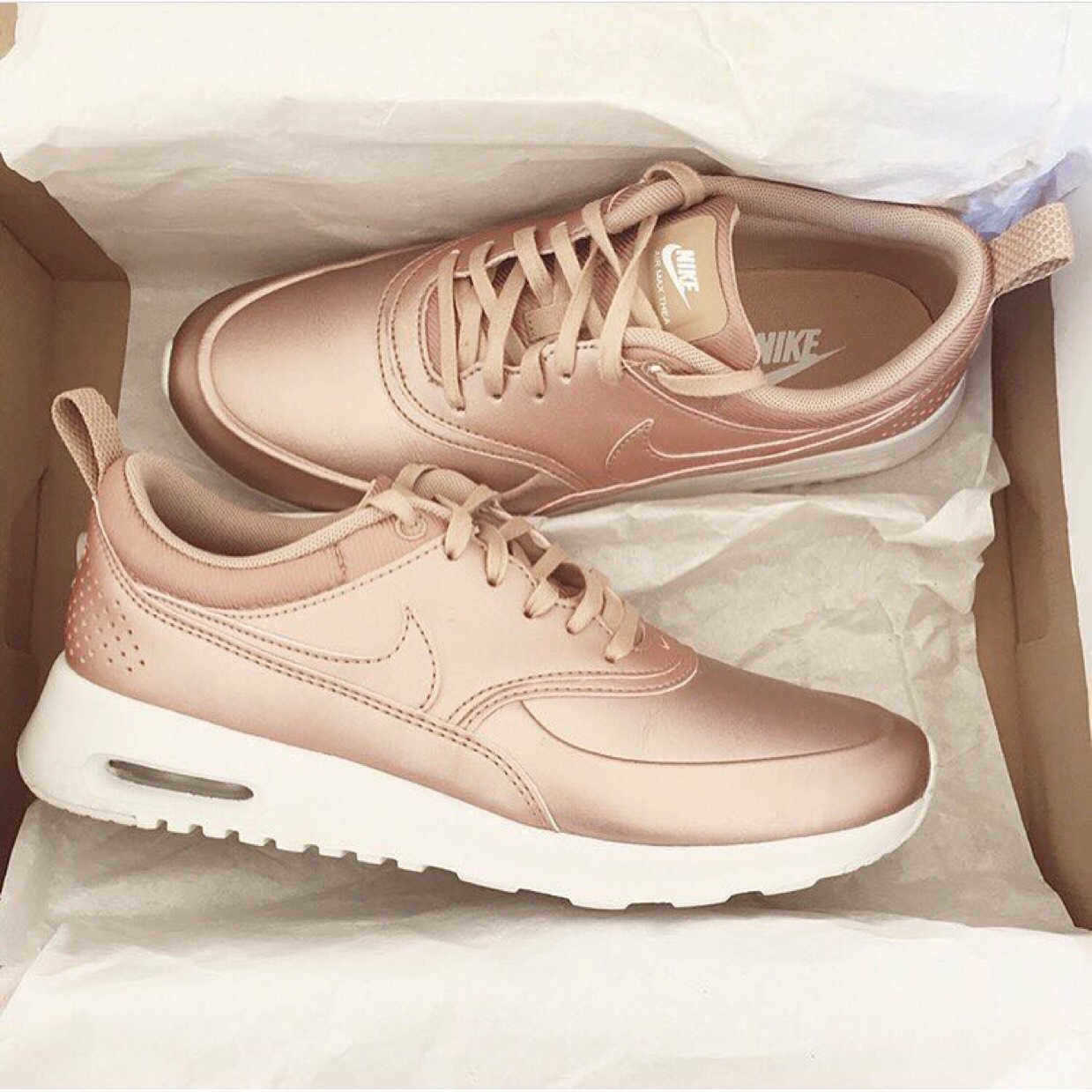 9402eadae7b Jiaminnie has gotten nike air max thea in rose gold from Japan!