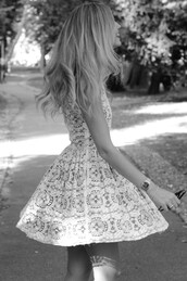 dress lace,dress,white dress,blue,vintage,blonde hair,lace skater dress,print,white,pattern,grey dress,grey,cute,skater dress,watch,sunglasses