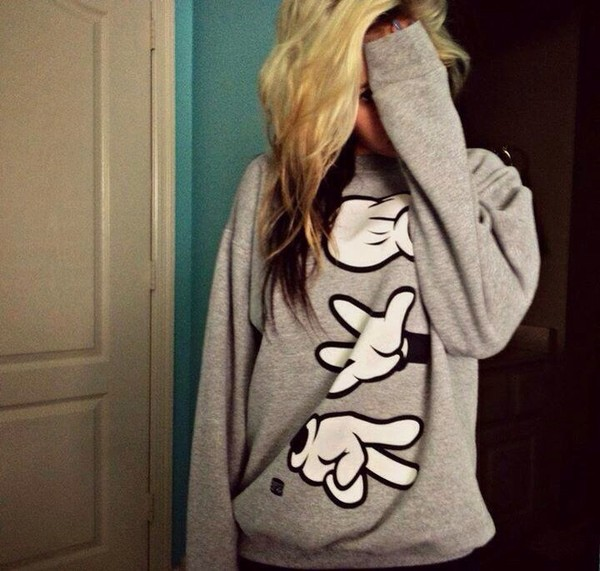 sweater winter sweater grey sweater grey disney mickey mouse mickey mouse micky mouse hands mickey mouse hands hands clothes cute jacket