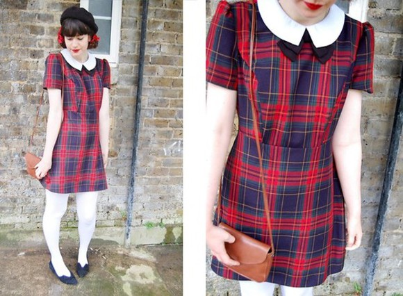 peter pan collar dress peter pan collar dress tartan dress tartan bow dress red plaid dress dress with bow plaid dress red dress blue dress